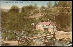 wales, LLANGOLLEN, Chain Bridge, Hotel Berwyn 1910s