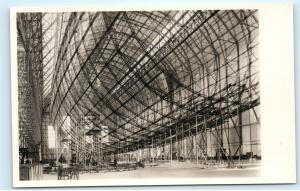 Zeppelin LZ 129 in Bau Construction Stamps Zeppelin Yard Real Photo Postcard D04