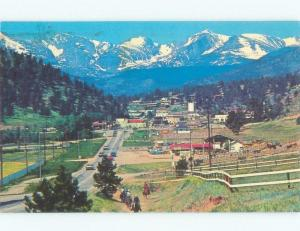 Pre-1980 PANORAMIC VIEW OF TOWN Estes Park - Near Denver Colorado CO E8891