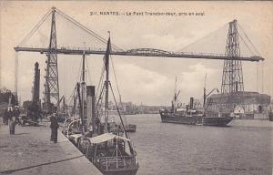 NANTES, Loire Atlantique, France, 00-10s : Le Pont Transbordeur , pris en aval