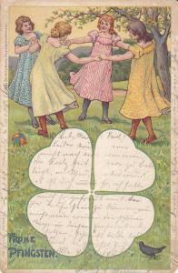 Frone Pfingsten, Girls dancing in circle, Shamrock, PU-1929