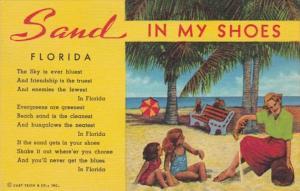 Florida Beach Scene Sand In My Shoes