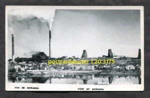 3175 - NORANDA Quebec 1940s Panoramic View. Real Photo Postcard