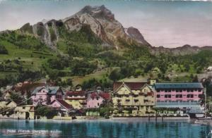 RP; Hand-colored, Hotel Pilatus, Herglswil a/See, Lucerne, Switzerland, PU-1965