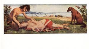 Piero Di Cosimo A Mythological Subject Rare London Art Gallery Painting Postcard