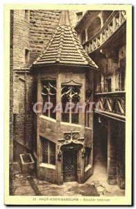 Postcard Old Hochkönigsburg Staircase inside