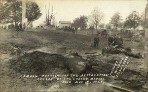 Bath MI School Tragedy Mass Murderer Maniac Destruction MaCabre 1927 RPPC xst