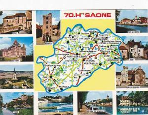 Map Of Haute Saone France Multi View
