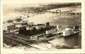 Duluth Superior Harbor Airplane View Real Photo Postcard