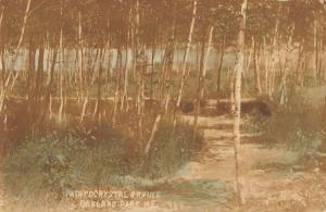 Oakland Park Maine Path To Crystal Spring Real Photo Antique Postcard K91758
