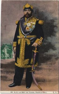 CPA AK TUNISIE S.A.LE BEY DE TUNIS NACEUR Bey (153386)