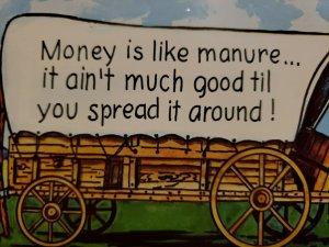 Vintage Postcard Clewiston Florida Money is Like Manure America's Sweetest Town
