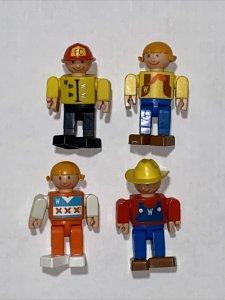 Vintage 1975 Gabriel Wannabees Action 4 Figure Toy Lot Girl Boy Farmer Fireman