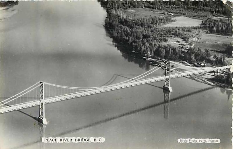 Peace River Bridge Peace River British Columbia BC