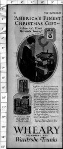 1924 Wheary Wardrobe Trunks for Fashion Vintage Print Ad 4000