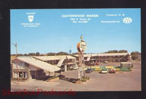 TUCUMCARI NEW MEXICO ROUTE 66 LEATHERWOOD MANOR MOTEL ADVERTISING POSTCARD