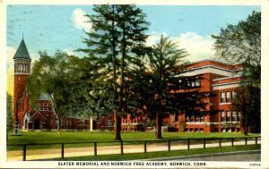 CT - Norwich. Slater Memorial & Norwich Free Academy