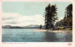 Pontoosuc Lake, Pittsfield, Massachusetts, Early Postcard, Unused
