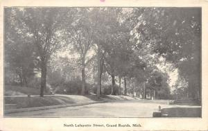 Grand Rapids Michigan~North Lafayette Street Scene~Residential Section~1907 PC