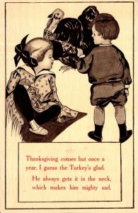 Thanksgiving With Turkey and Young Children