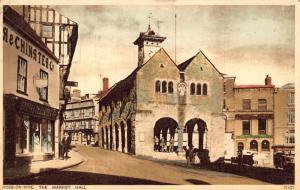 Ross on Wye The Market Hall Street Shops Postcard