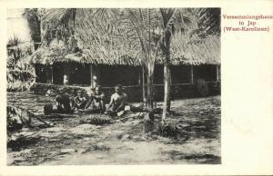 caroline islands, YAP WAQAB, Assembly House, Native People (1910s) Postcard