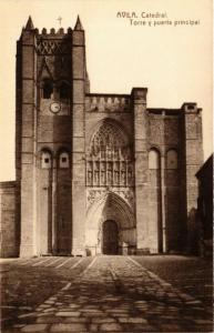 CPA Avila Catedral, Torre y puerta principal SPAIN (744127)