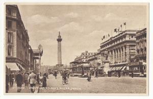 Dublin Ireland O'Connell Street Nelson's Pillar Vtg Milton Woolstone Postcard