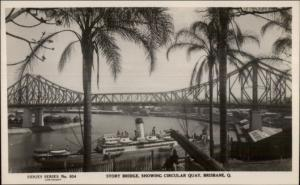Brisbane Queensland Story Bridge Real Photo Postcard