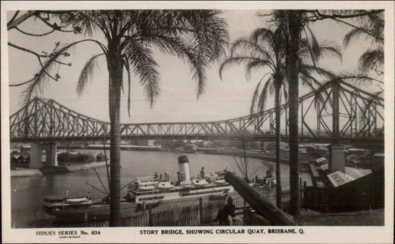 Brisbane Queensland Story Bridge Real Photo Postcard