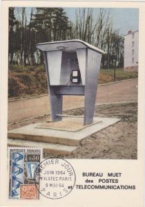 Bureau Muet des POSTE TELECOMMUNUCATUINS , France , 1964