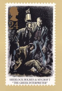 Sherlock Holmes The Greek Interpreter Book Limited Postcard
