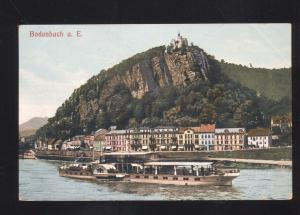 BODENBACH A.E. GERMANY RIVERBOAT STEAMER ANTIQUE VINTAGE POSTCARD
