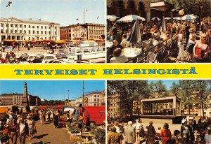 B110621 Finland Helsinki Helsingfors Market, Concert Street Cars Voitures