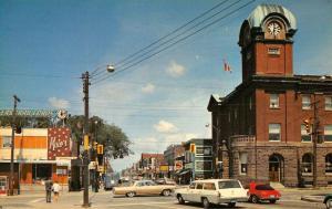 Sault Ste Marie Canada Queen Street Scene Historic Bldgs Antique Postcard K36262