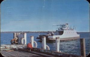 Shelter Island Long Island NY Ferry Boat Islander Greenport Dock Postcard