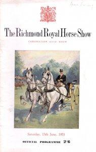 Richmond Surrey Royal Coronation 1953 Horse Show Programme