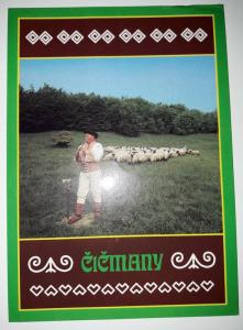 Cicmany, Slovakia, A shepherd with his sheep near Cicmany
