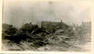 OH - Dayton. March 1913 Flood Aftermath, North Dayton - RPPC  (PHOTO, not a p...