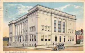Huntington West Virginia 1917 Postcard City Hall