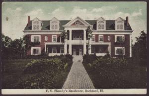 F G Shoudy's Residence,Rockford,IL Postcard