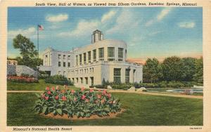 Excelsior Springs Missouri~Art Deco Hall of Waters~1941 Postcard