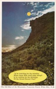 New Hampshire Franconia Notch The Old Man Of The Mountains 1968