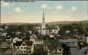 Danielson CT Birdseye View c1910 Postcard