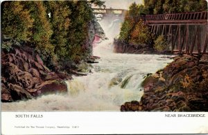 Postcard ON Canada Muskoka South Falls Near Bracebridge 1908 K13