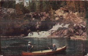 Temagami District Ontario Fishing Canoe Grand Truck Railway Helen's Falls PC