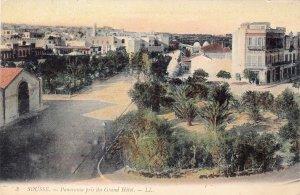 P1698 vintage unused pc sousse - panorama pris du grande hotel tunisia