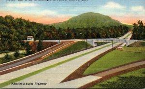 Pennsylvania Turnpike Interchange Showing Fort Littleton Entrance Curteich