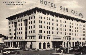 Florida Pensacola Hotel San Carlos 1954 Curteich