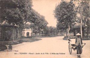 Hanoi, Jardin de la Ville, L'Allee des Volieres Tonkin Vietnam, Viet Nam 1926...